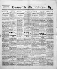 Sample Cassville Republican front page