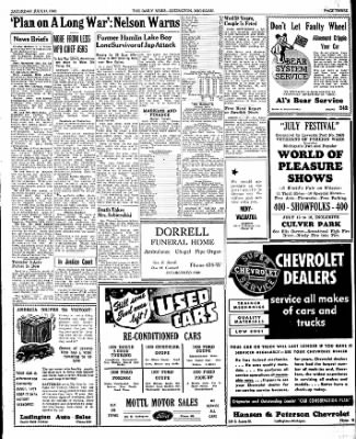 The Ludington Daily News from Ludington, Michigan on July 11, 1942 · Page 3