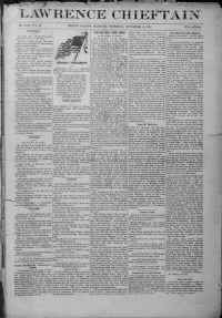 Sample Lawrence Chieftain front page
