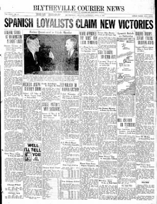 The Courier News from Blytheville, Arkansas on April 3, 1937 · Page 1