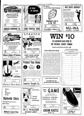 The Courier News from Blytheville, Arkansas on October 25, 1954 · Page 6