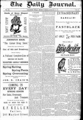 Logansport Pharos-Tribune from Logansport, Indiana on February 26, 1891 · Page 1