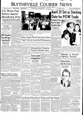 The Courier News from Blytheville, Arkansas on April 10, 1953 · Page 1