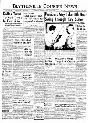 The Courier News from Blytheville, Arkansas on October 26, 1954 · Page 1