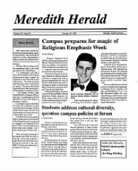 Sample Meredith Herald front page