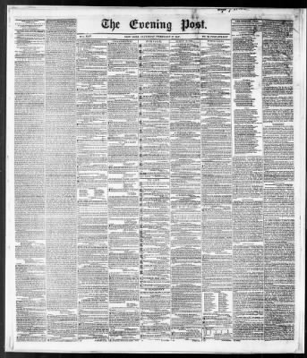 The Evening Post From New York New York On February 27 1847 Page 1