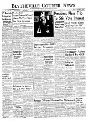 The Courier News from Blytheville, Arkansas on October 27, 1954 · Page 1