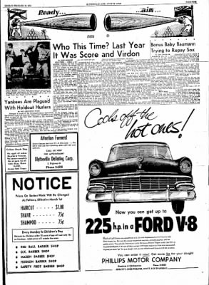 The Courier News from Blytheville, Arkansas on February 27, 1956 · Page 9