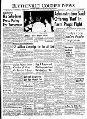The Courier News from Blytheville, Arkansas on February 28, 1956 · Page 1