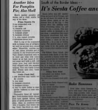 1959 no-bake, no-egg pumpkin pie recipe with evaporated milk