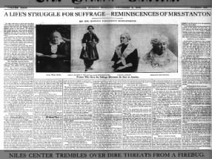 History of Elizabeth Cady Stanton's involvement in the women's suffrage movement