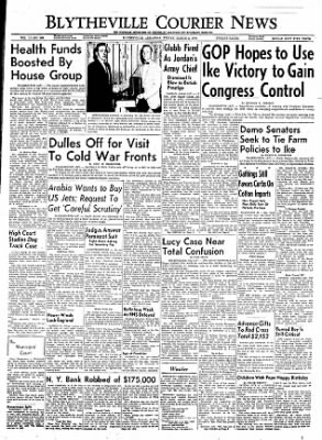 The Courier News from Blytheville, Arkansas on March 2, 1956 · Page 1