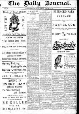 Logansport Pharos-Tribune from Logansport, Indiana on February 27, 1891 · Page 1