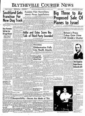 The Courier News from Blytheville, Arkansas on March 3, 1956 · Page 1