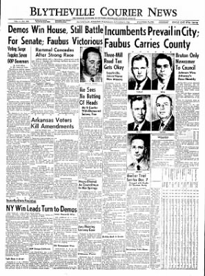 The Courier News from Blytheville, Arkansas on November 3, 1954 · Page 1