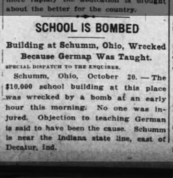 Schumm School Bombed