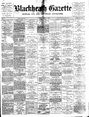 Blackheath Gazette from London, Greater London, England on April 1, 1892 · Page 1