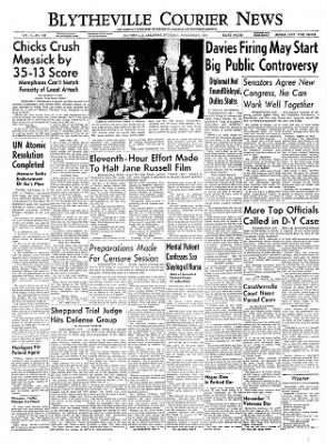 The Courier News from Blytheville, Arkansas on November 6, 1954 · Page 1