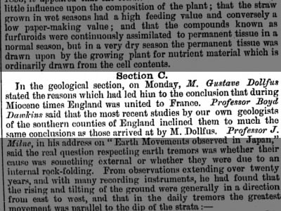 Clip of the Day: Geologist Concludes England Was Once United to France