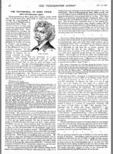 British newspaper reports on Mark Twain being in debt, 1897