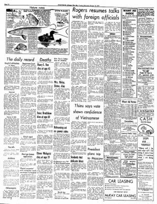 Jefferson City Post Tribune From Jefferson City Missouri On October
