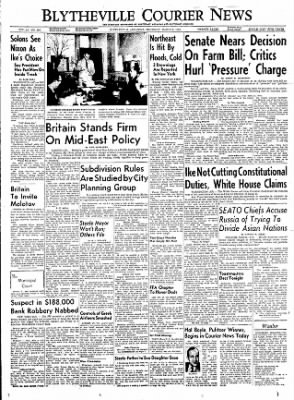 The Courier News from Blytheville, Arkansas on March 8, 1956 · Page 1