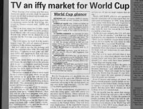 TV an iffy market for 1998 World Cup