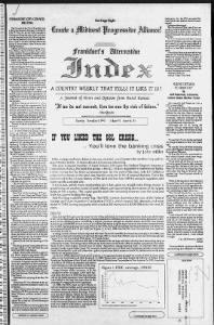 Sample Alternative Index front page