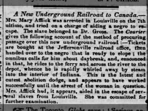 Woman arrested for helping enslaved person escape; How the Underground Railroad works in Louisville