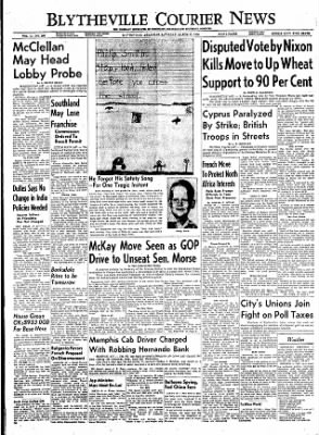 The Courier News from Blytheville, Arkansas on March 10, 1956 · Page 1