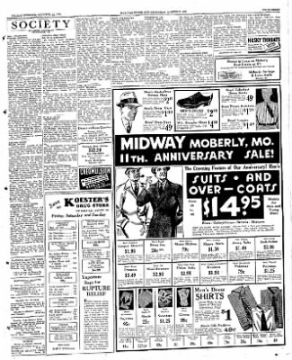 Moberly Monitor-Index from Moberly, Missouri on October 12, 1934