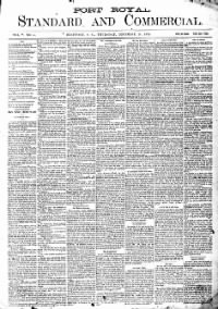 Sample Port Royal Standard and Commercial front page
