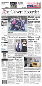 Sample The Recorder front page