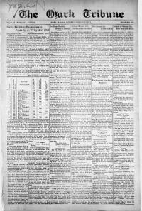 Sample The Ozark Tribune front page