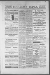 Sample Columbus Index front page