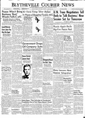 The Courier News from Blytheville, Arkansas on April 28, 1953 · Page 1