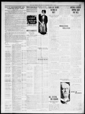 the missoulian from missoula montana on april 5 1915 5 missoulian newspapers com