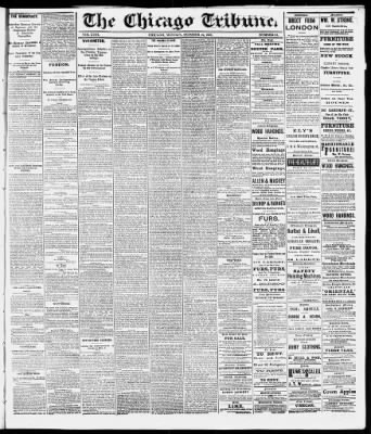 Chicago Tribune from Chicago, Illinois on October 19, 1868 · 1