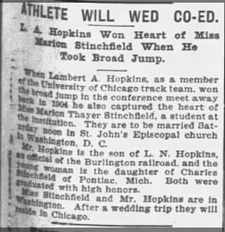 Engaged, L.A. Hopkins Sr. and Marion Stinchfield