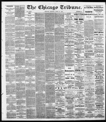 Chicago Tribune from Chicago, Illinois on June 14, 1869 · 1
