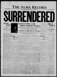 Sample Alma Record front page