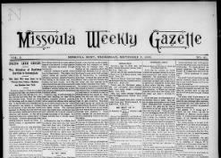 Missoula Weekly Gazette