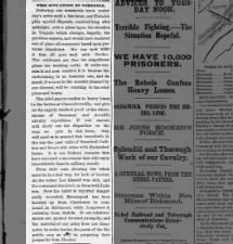 Illinois newspaper editorial reacts to news of the Battle of Chancellorsville