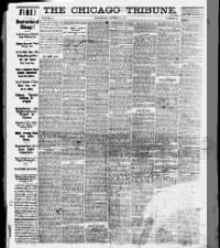 Chicago Tribune front page newspaper coverage and headlines about the Great Chicago Fire of 1871