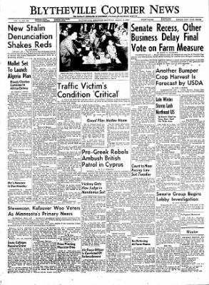 The Courier News from Blytheville, Arkansas on March 17, 1956 · Page 1