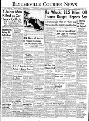 The Courier News from Blytheville, Arkansas on April 30, 1953 · Page 1