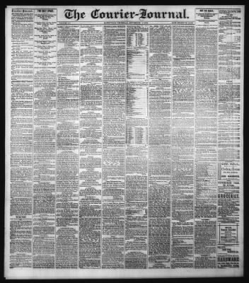 The Courier-Journal from Louisville, Kentucky on September 5, 1878 · Page 1