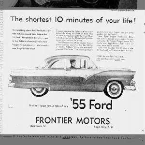 '55 Ford Thunderbird  ad