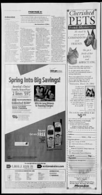 The Missoulian from Missoula, Montana on March 7, 2003 · 4