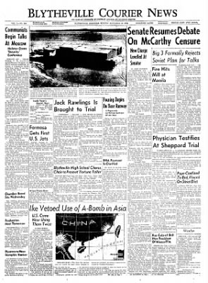 The Courier News from Blytheville, Arkansas on November 29, 1954 · Page 1